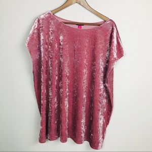 Vince Camuto Crushed Velvet Tee Plus Size NEW